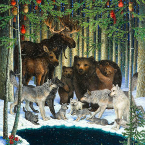 Christmas gathering por Lynn Bywaters