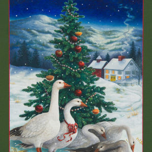 Christmas geese por Lynn Bywaters