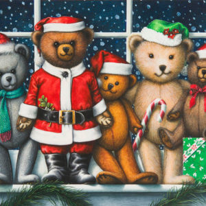 Christmas teddies por Lynn Bywaters