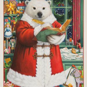 Santa bear por Lynn Bywaters