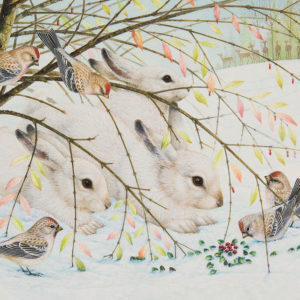 White rabbits por Lynn Bywaters